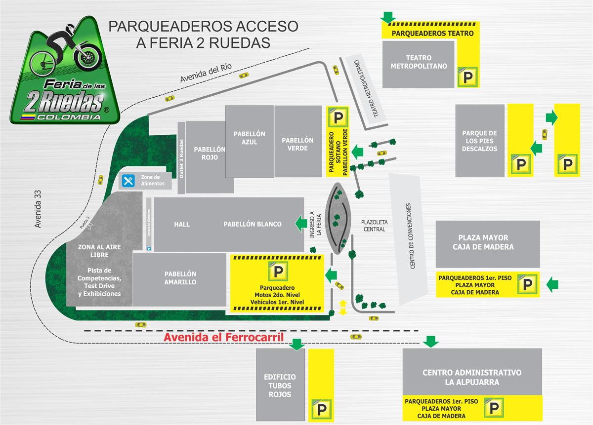 Planos Parqueadero Feria 2 Ruedas