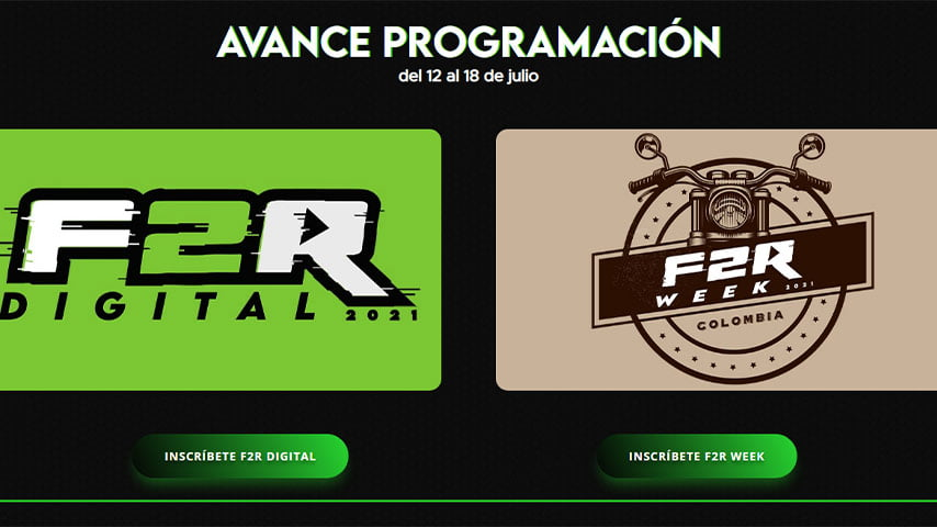 Prográmate para las transmisiones de la F2R Digital